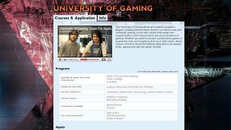 Belgian Gamers Planning To Open 'University Of Gaming'